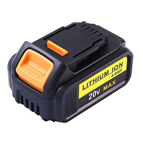 DCB205 Replacement for Dewalt 20V Max XR Battery 4.0Ah Lithium Ion DCB200 DCB201 DCB203 DCB204 DCB206 DCB207 High Capacity Cordless Power Tools #Replacement #Dewalt #Battery #Lithium #High #Capacity #Cordless #Power #Tools
