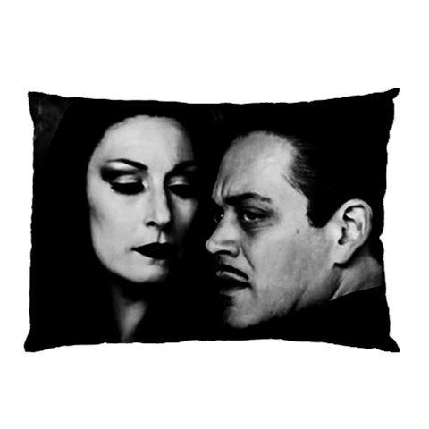 Morticia and Gomez Addams Pillow Case. The Huston/Julia version because they were the sexiest Addams ever.
