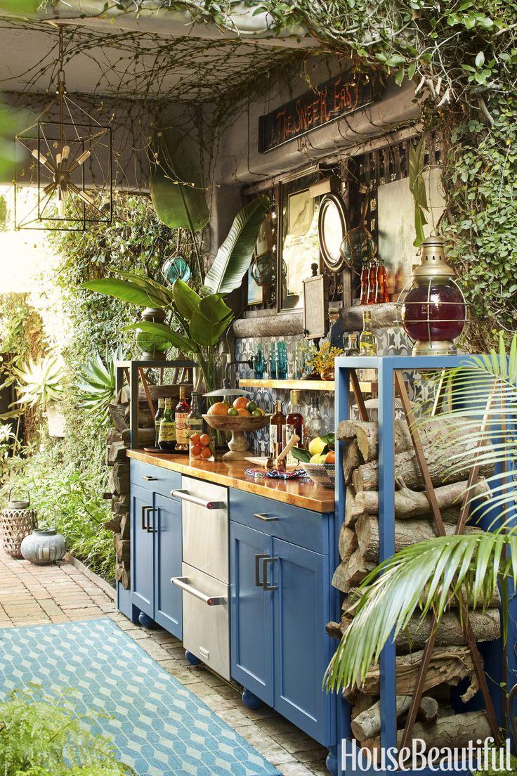 Boho Chic outdoor kitchen