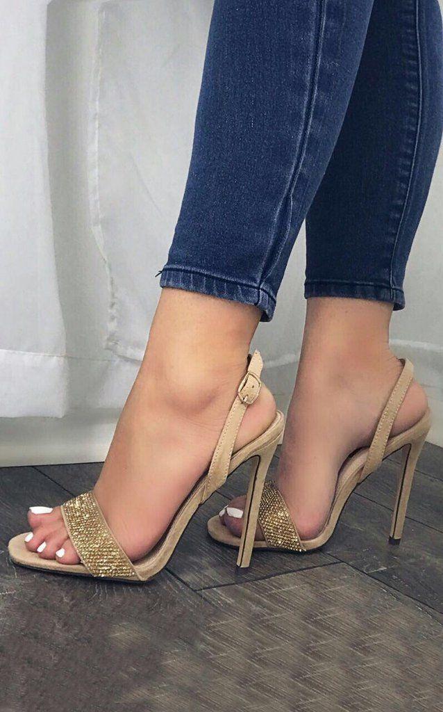 TaccoE Top Sandali Bling Tacchi HeelsScarpe Con Aj4LR35
