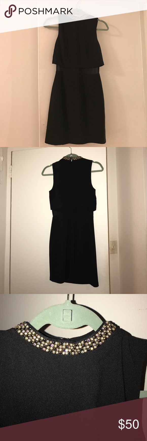 ASOS cocktail dress. ASOS black cocktail dress with detailed collar. Size 2. Excellent condition. Only worn one time. ASOS Dresses Mini