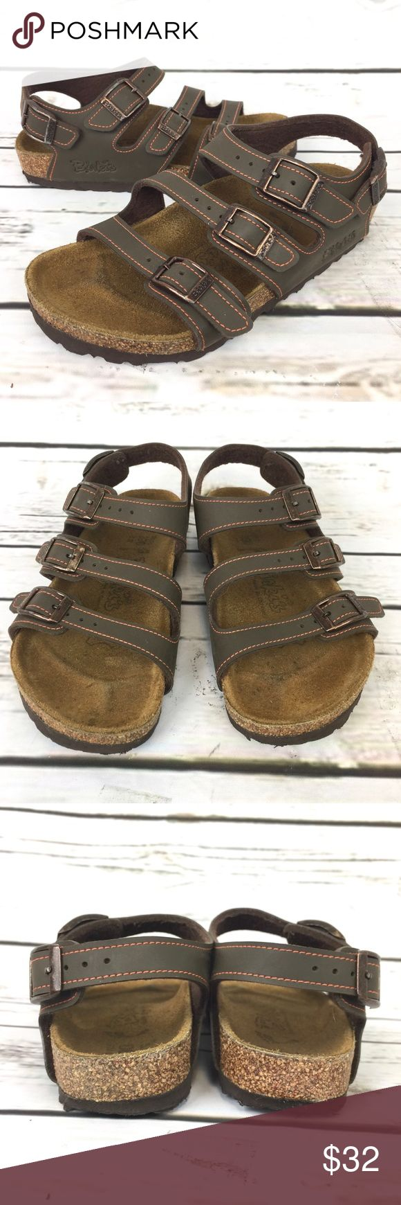 Birkenstock Sandals Kids 3 Strap Leather Shoes Birkenstock Sandals Kids Size 12 Brown 3 Strap Leather Shoes. In great Condition. Does show wear on footbed. View pictures for details. Birkenstock Shoes Sandals & Flip Flops