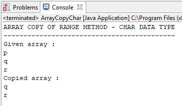 Java Array Copy Of Range Method - http://www.flowerbrackets.com/java-array-copy-of-range-method/