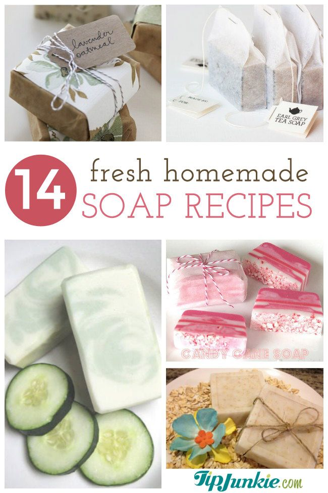 Homemade soap is easier to make than you think!  Learn how to make your own soap several different ways like cold process and hot process with ingredients like glycerin, coconut oil, oatmeal and even natural soap recipes. There are 59 homemade soap recipes over on the Tip Junkie Creative Community, so if I don't have …