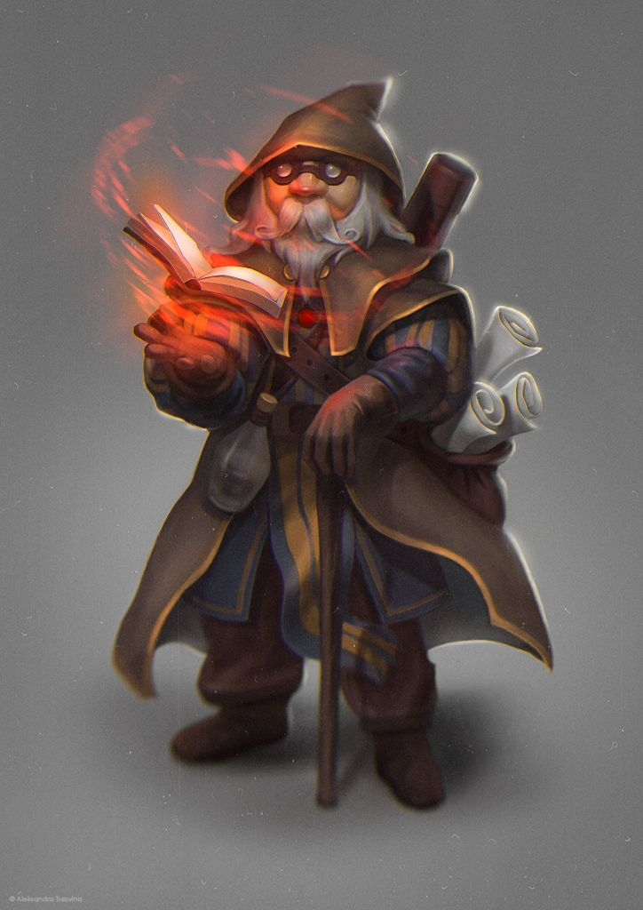 Wizard by AleksandraTrezvina on DeviantArt