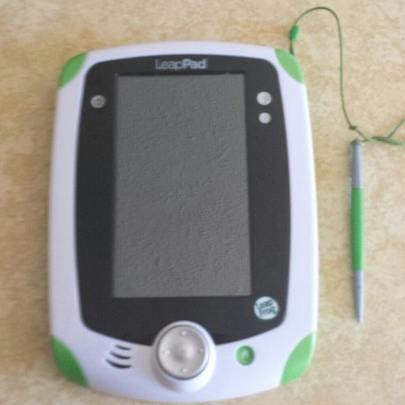 LeapPad/Leap Frog plus spongebob game Used few times in a wonderful condition leap frog device that is perfect for a kid ages 2 and up. It teaches numbers,  letters,  and many more educational gamed. It has a build in camera to take pictures plus many different fun games and it only needs batteries to have it running all day for your child. I have also giving a spongebob game your kids will love :) Leap Frog Accessories