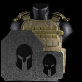 Condor MOPC Carrier with Spartan Armor System's 10x12 Shooters Cut AR500 Body Armor Plates in Tan