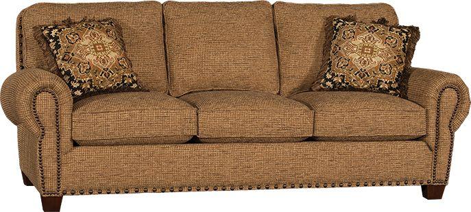 Mayo Furniture 1760F Fabric Sofa Wilson Burlap