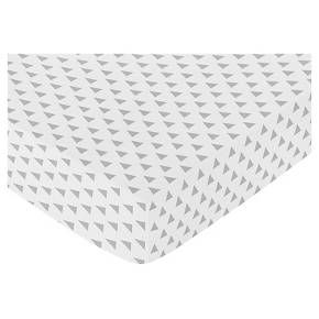 Sweet Jojo Designs Earth & Sky Fitted Crib Sheet - Triangle Print