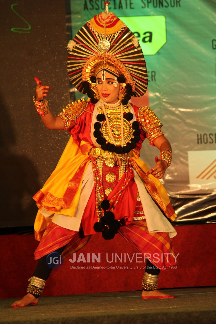 Artist performing Yakshagana that is a popular dance form in coastal regions of Karnataka.