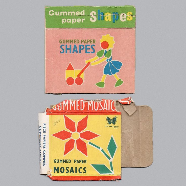 We All Loved These Gummed Paper Shapes at School Didn't We!! Could Buy Them for Home Too