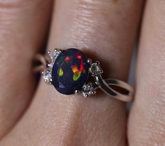 Details about  /Victorian 925 Sterling Silver Ring Diamond With Tourmaline Gems Ring Gift Ring