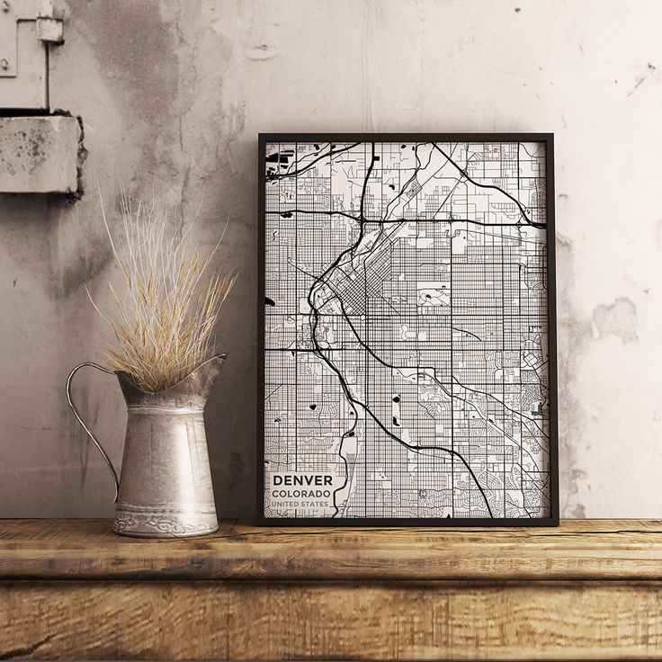 Houston Judgemental Map%0A Premium Map Poster of Denver Colorado  Subtle Black Ink  Unframed   Denver Map Art