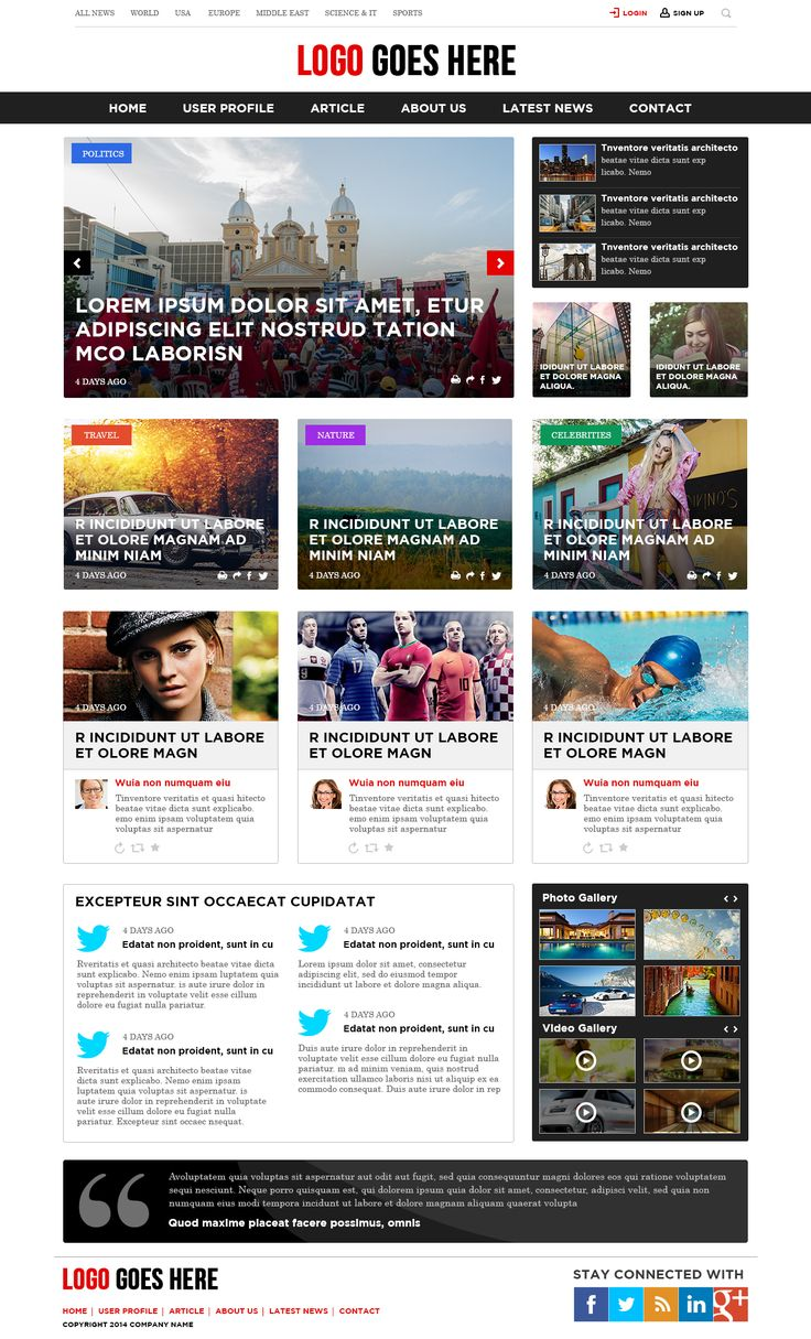The website has been designed for a online news portal that provide news updates of different countries.