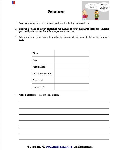 30 best french worksheets images on pinterest french worksheets free printable and good ideas. Black Bedroom Furniture Sets. Home Design Ideas