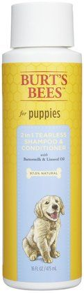 Burt's Bees Shampoo Puppy Shampoo (2 in 1) - Buttermilk & Honey - 16 oz