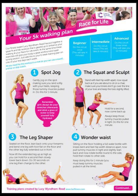Race For Life 5k Walking Plan