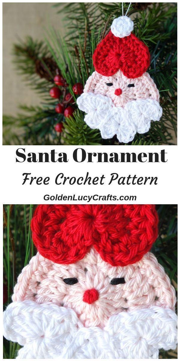 Crochet Santa Ornament Free Crochet Pattern Everything Christmas