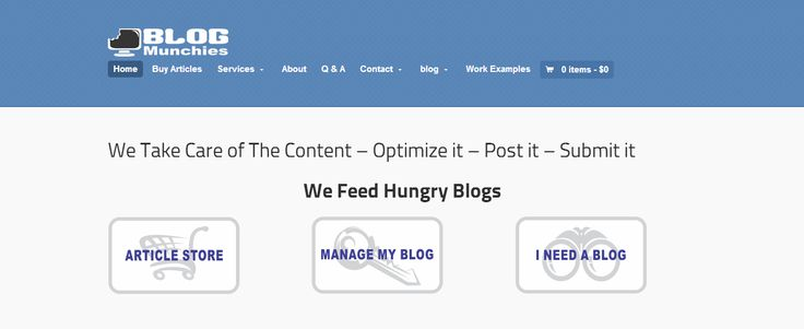BlogMunchies - Blog management  Professional blog writing service