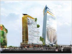Le projet « Duo » conçu par les ateliers Jean Nouvel et porté par les investisseurs Ivanhoé Cambridge / Hines était désigné lauréat pour le premier immeuble de grande hauteur de Paris.Prévu pour s'implanter sur le site de Masséna Bruneseau dans le 13ème arrondissement, il fait l'objet d'une exposition au Pavillon de l'Arsenal, où sont également visibles les trois autres projets proposés lors du concours.