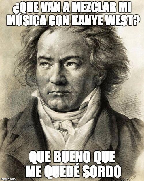 """Kanye West y Beethoven se fusionarán en el concierto de orquesta """"Yeethoven""""   Aunque suena como un mal chiste o como un tuit más del delirio ególatra de Kan..."""