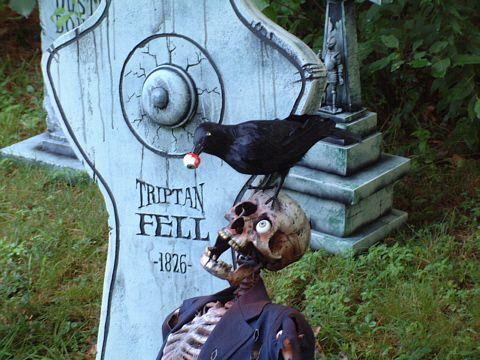 haha amazing halloween yard decor