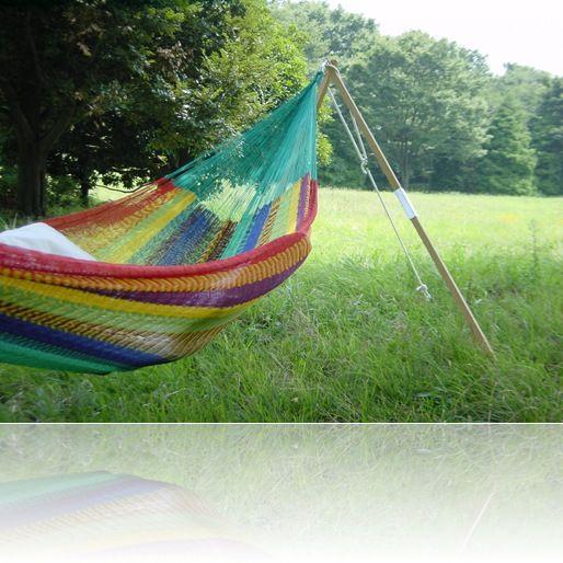 ハンモックの中で風を感じながらお昼寝したい。