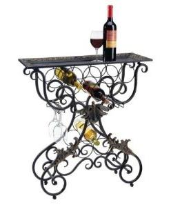 Wrought Iron Wine Racks Make Great Accent