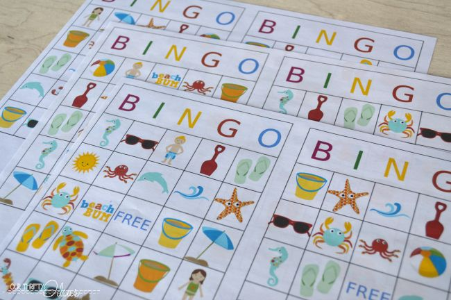 Summertime BINGO printable game