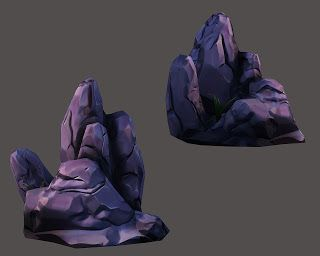Game Art: Zbrush Low Poly Rock