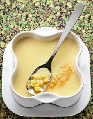 Velouté de maïs au piment