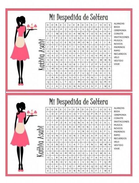 Juegos imprimibles para despedida de soltera - Foro Antes de la ...