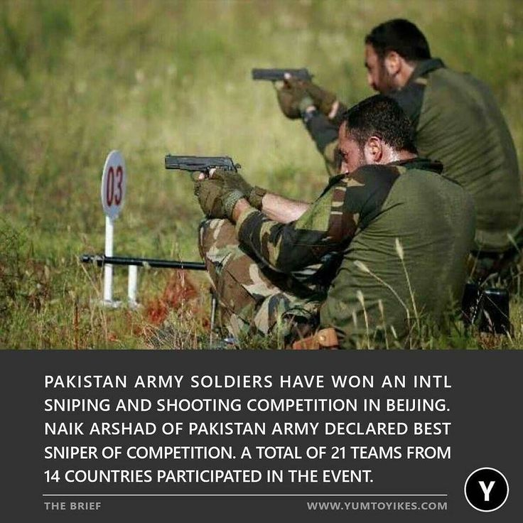 Pakistan Army soldiers have won an international sniping and shooting competition in Beijing.