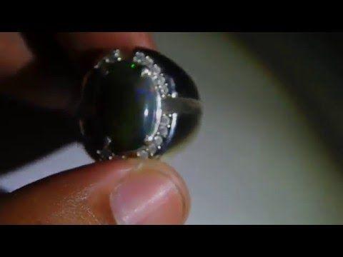Perhiasan Perak Harga Grosir dan Eceran: Cincin Silver Pria Black Opal Asli Kualitas Bagus