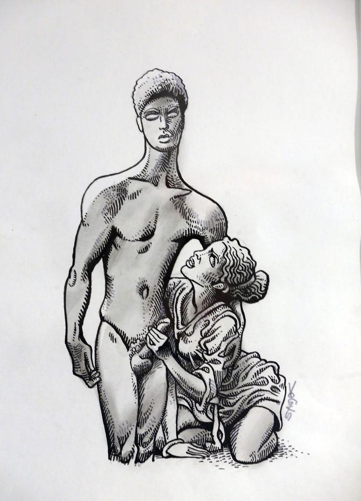 Výstava je uvedena kresbou k filmu Čtyři vraždy stačí, drahoušku.