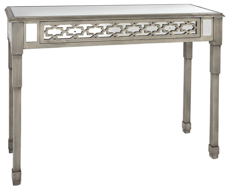 Stunning #mirrored wooden #console in #antique grey color. www.inart.com
