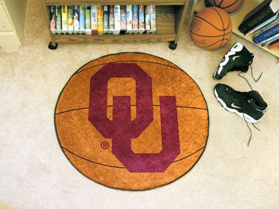 The Oklahoma Sooners Basketball Mat by FanMats