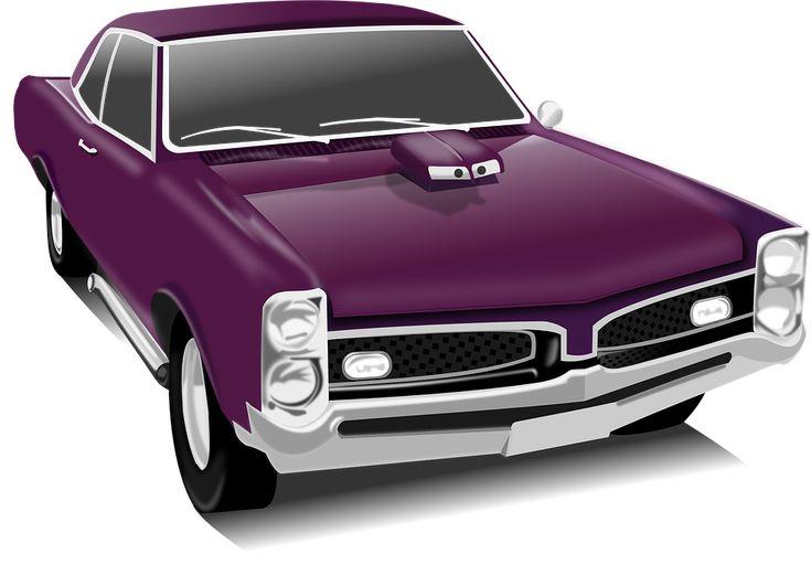 Klassisk Bil, Bil, Vintage, Lilla, Transport, Køretøj