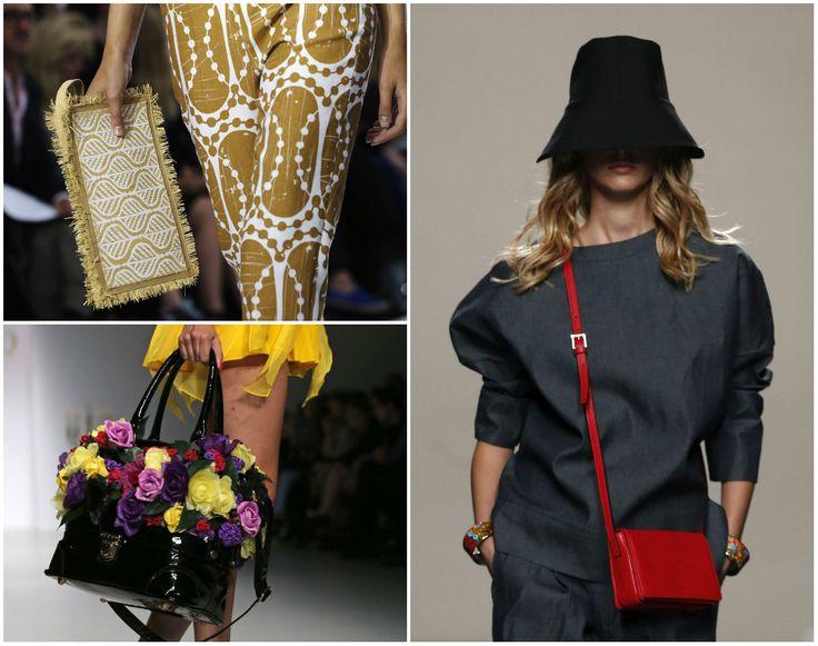 Esquina superior derecha, una creación de Jasper Conran; abajo, una propuesta de la marca PPQ; y a la izquierda, un diseño de Juanjo Oliva, presentados en el Mercedes-Benz #FashionWeek en #Madrid Fotos: Agencias #Fashion #handbags #clothing #fashionstyle #Moda
