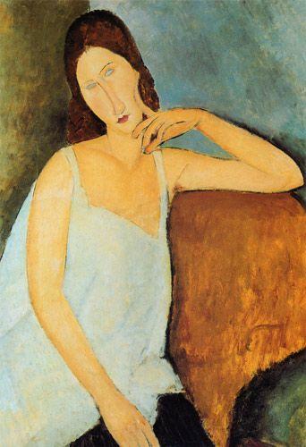 Titre de l'image : Amadeo Modigliani - Détail de Jeanne Hébuterne