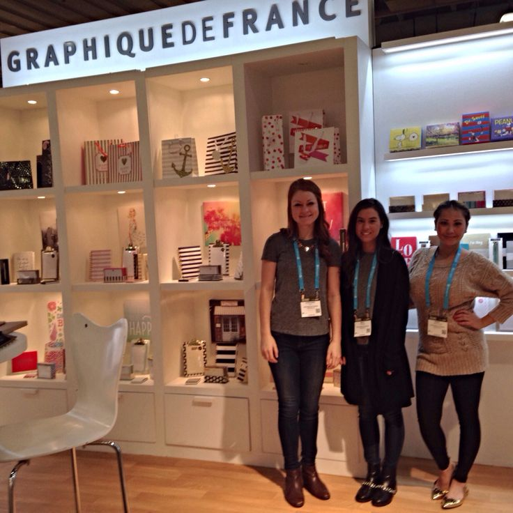 Our fabulous Graphique sales team at booth 7566 #NYNow #stationery #organization