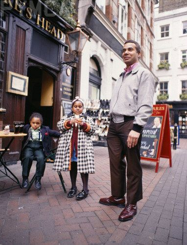 Suedehead on Carnaby St with his family