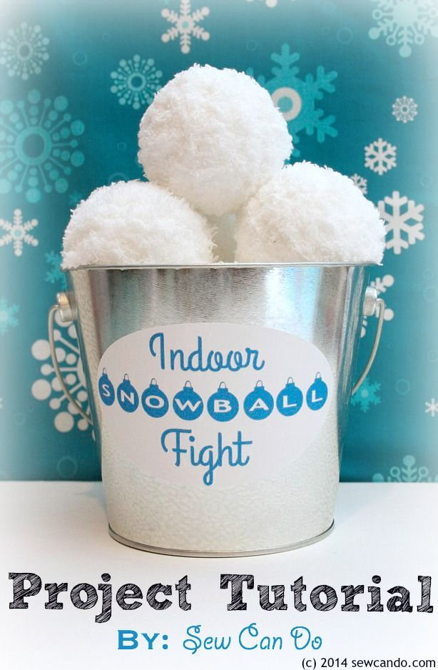 Sew Can Do: Make an Indoor Snowball Fight Set.  Easy to make, fun to use and a great handmade gift idea!