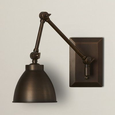 Features:  -Swing Arm Wall Sconce.  -Constructed of brass and metal.  -This wall sconce can accommodate an LED bulb.  -Contemporary and classic style.  -Light direction: Down.  -UL listed for dry loca