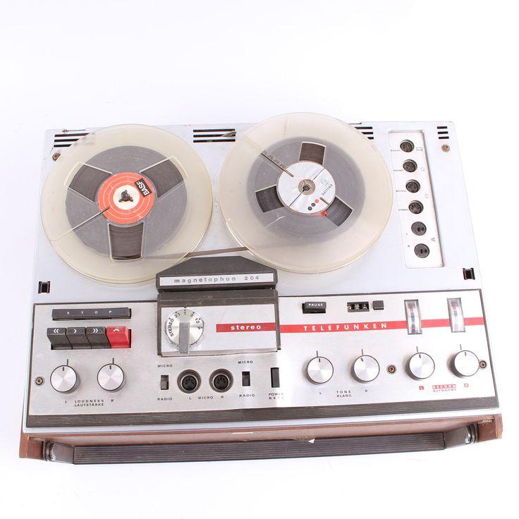 Cívkový magnetofon Telefunken M-204