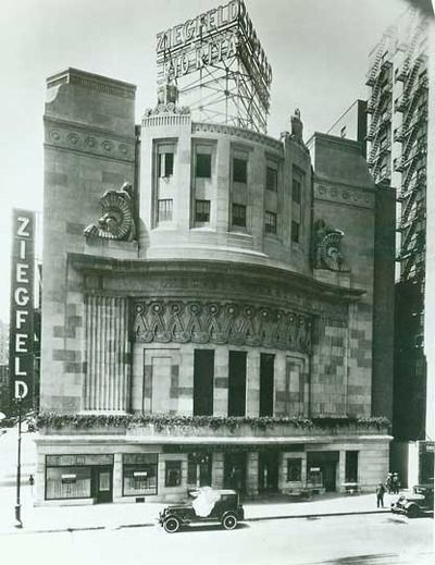The Ziegfeld Theatre, 1927 At a cost of $2.5 million, Flo Ziegfeld built the 1600-seat Ziegfeld Theatre on the west side of Sixth Avenue bet...