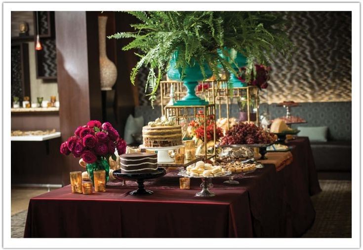 Decadent dessert table for Vintage Parisian Style La Jolla Wedding  www.alchemyfineevents.com