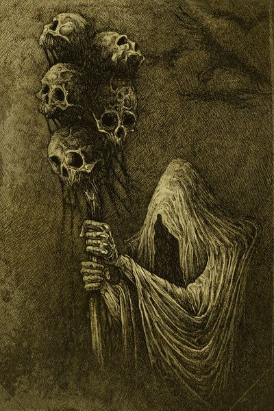 Halloween Art.   Death Art Print