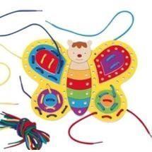 Jeu Papillon à enfiler avec lacets - Achat / Vente jeu d'éveil éducatif Jeu Papillon à enfiler avec… - Cdiscount