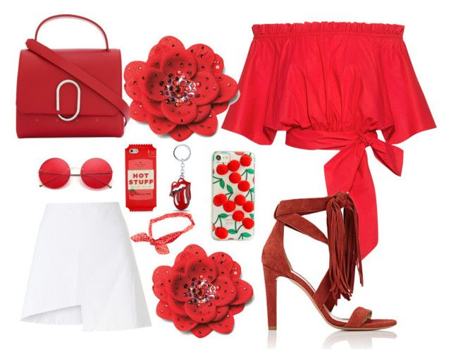 """""""Red rose"""" by pusheencute on Polyvore featuring Saloni, Wåven, Chloé, 3.1 Phillip Lim, Kate Spade and Skinnydip"""